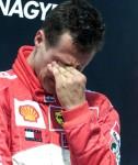 Schumi chorando